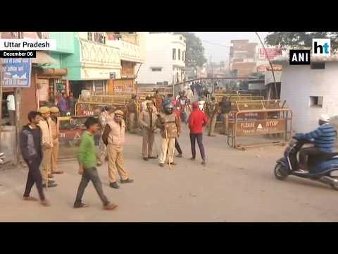 security-tightened-in-ayodhya-on-babri-masjid-demolition-anniversary