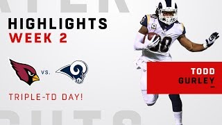 Todd Gurley's Triple-TD Day vs. Arizona!