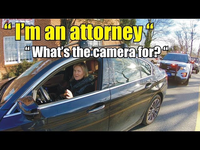 First Amendment AUDIT 5: POLICE traffic stop an attorney and the boys at the station