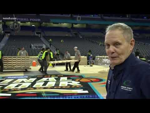 Final Four floor transforms Alamodome to close out March Madness
