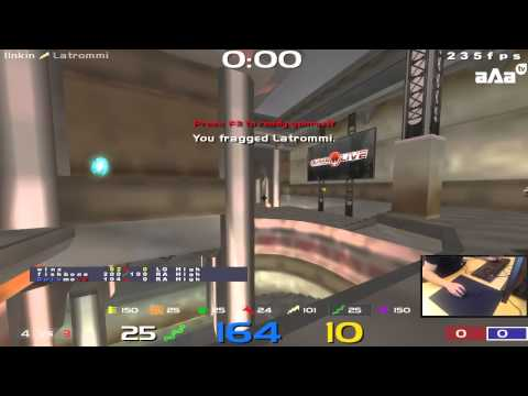 QuakeLive - Russia vs France - Nations Cup Clan Arena 1/4 Final (pov l1nkin + stream)