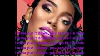 Brandy Ft. Chris Brown- Put it Down Lyrics Video