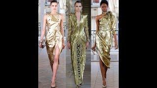 Желтые и золотые платья к Новому году 2019