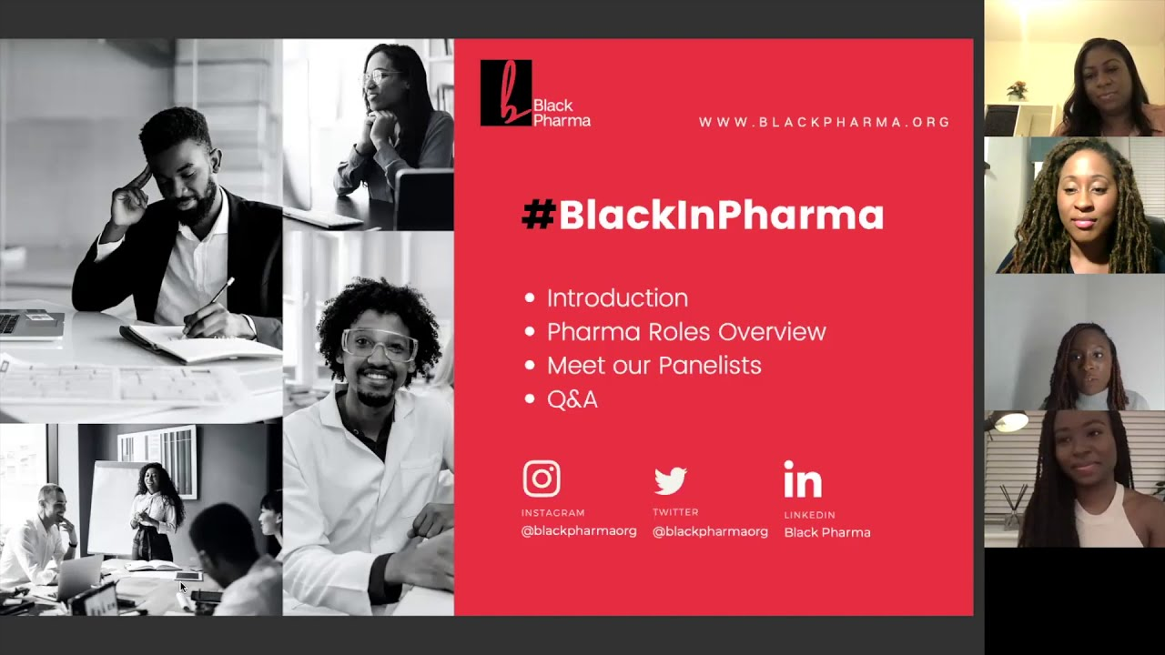 #BlackInPharma Webinar 26NOV2020