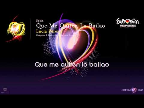 "Lucía Pérez - ""Que Me Quiten Lo Bailao"" (Spain) - [Karaoke version]"