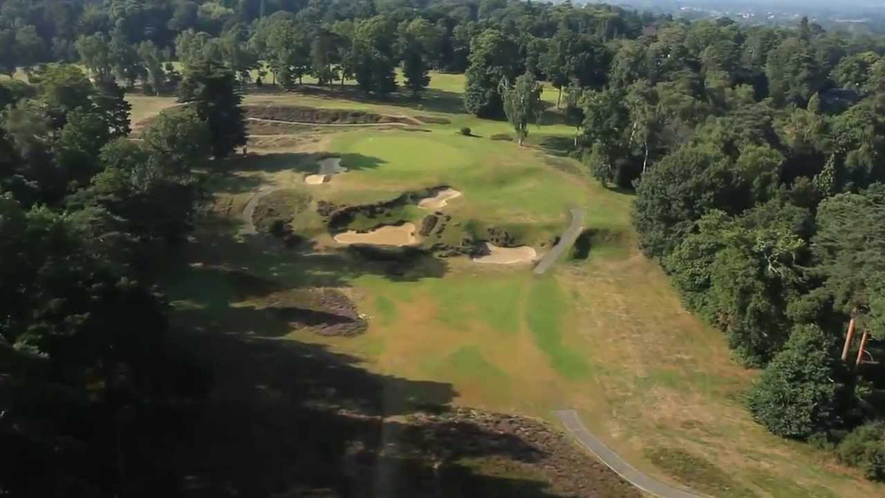 St George S Hill Golf Club From The Air Youtube