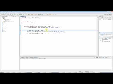 Advanced Java: Swing (GUI) Programming Part 1 -- A Basic Swing Application