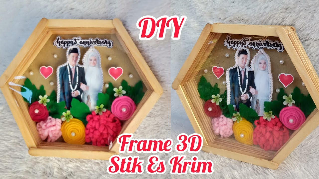 Diy Frame 3d Dari Stik Eskrim Pop Up Frame Stik Eskrim Youtube Frame dari stik es krim