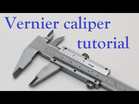 how to use vernier calipers youtube