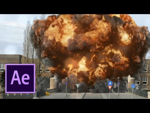 Massive School Building Explosion/Collapse (After Effects VFX) - Het Amsterdams Lyceum