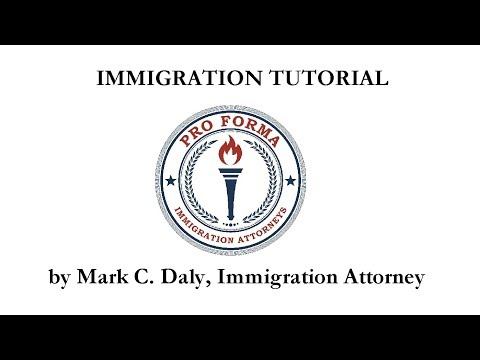 Immigration Lawyer Mark C. Daly with CINA demonstrates preparing immigration form I-131