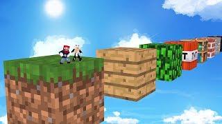 RENNEN auf RIESEN Minecraft BLÖCKEN