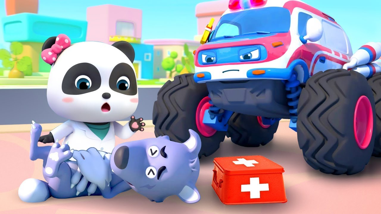 Going to the Doctor | Monster Ambulance | Nursery Rhymes | Kids Songs | Baby Cartoon | BabyBus
