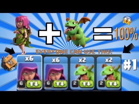 Clash of Clans - Baby Dragon Archers OP!? (Builder Hall 4 Gemming Spree!)