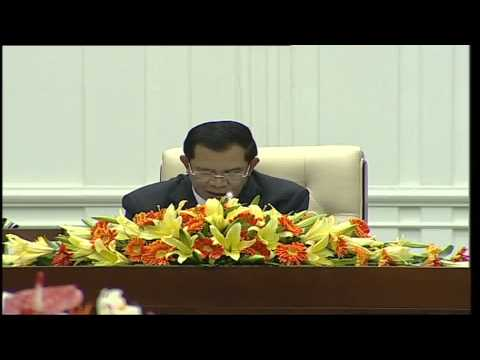 "Hun Sen Prime Minister of CAMBODIA ""Rectangular Strategy"" 2013.09.25 TVK"