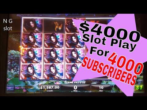 💥$4000 High Limit Slot Machine Play💥For 🎈🎁4000 Subscribers🎁🎈 Dangerous Beauty Slot Bonuses💥💥