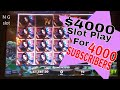 💥$4000 High Limit Slot Machine Play💥For 🎈🎁4000 Subscribers🎁🎈 Dangerous Beauty Slot Bonuses💥💥