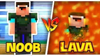 THỬ THÁCH Troll NOOB Bằng DUNG NHAM  - LAVA Trong Minecraft!!!