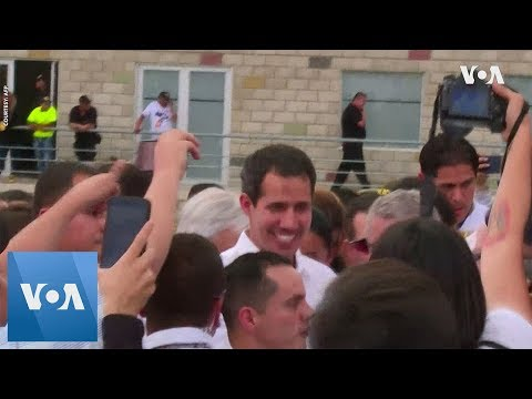 Juan Guaido Shows Up at Aid Concert Despite Travel Ban