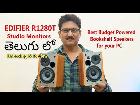 Budget Studio Monitor Speakers Edifier R1280T Unboxing In Telugu...