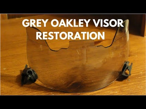 Oakley Gray Football Visor Restoration (Part 1) - The Cleanup