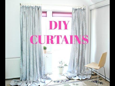 DIY CURTAINS EASY SEWING TUTORIAL