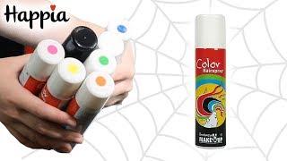 Разноцветная спрей-краска для волос и кожи/ Обзор