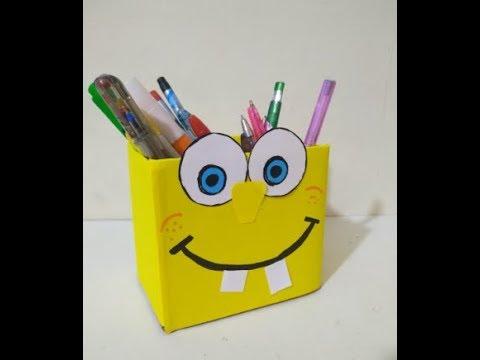 DIY Crafts for Kids - SpongeBob Pencil Case for Kids !