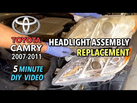 Toyota Camry 2007-2011 Headlight Assembly Replacement – 5 Minute DIY Video