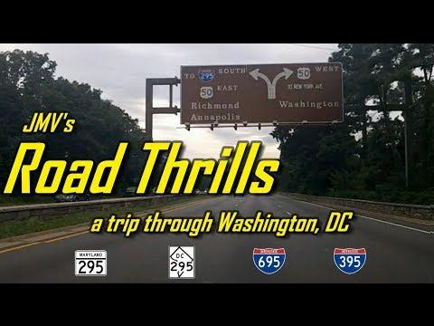 Washington Dc Highway Tour Md 295 To Dc 295 To I 695 To I 395 Youtube