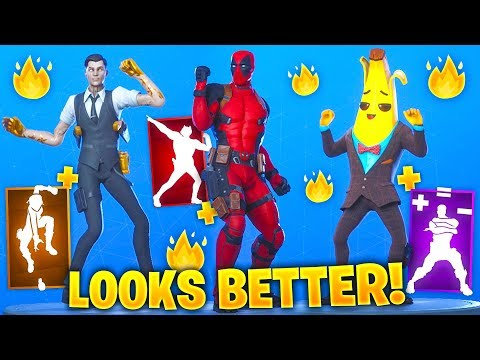 TOP 75 Fortnite Dances & Emotes Looks Better With These Skins #1 (Deadpool, Chapter 2 Season 2)