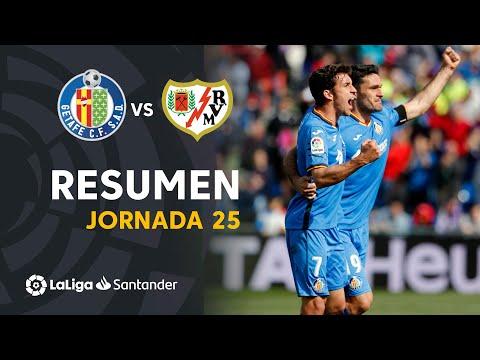 Resumen de Getafe CF vs Rayo Vallecano (2-1)