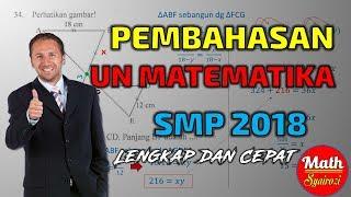 Gambar cover Pembahasan UNBK Matematika SMP 2018 Lengkap dan Cepat (Tipe 1)