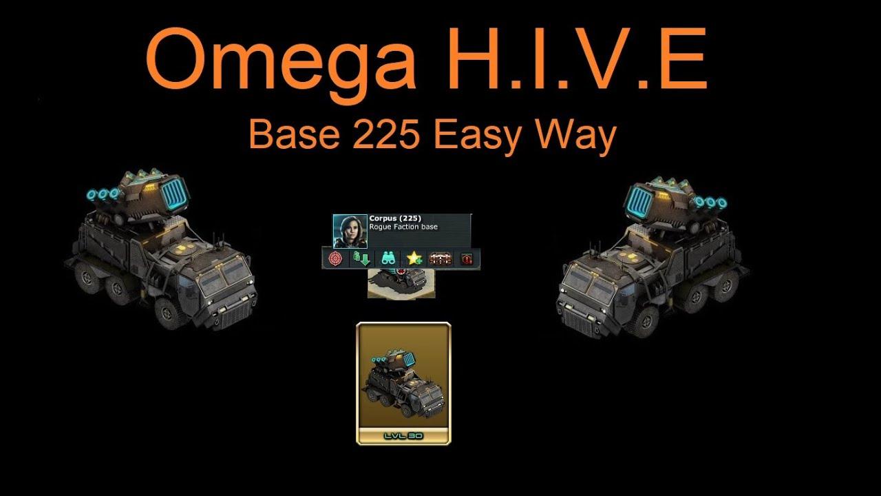 War Commander : Omega H.I.V.E Base ,Corpus (225) Updated