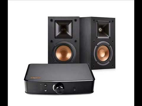 Klipsch R 14M Bookshelf Speakers And Powergate Amplifier Bundle