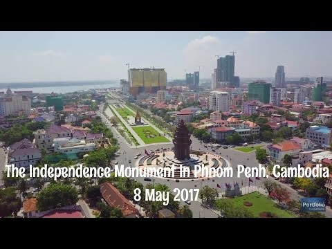 The independence monument in Phnom Penh, capital of Cambodia 8-5-2017