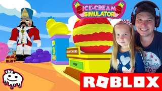 LEGO and TOYS ZONE-ICE CREAM SIMULATOR 🍦 Roblox | Daddy and Barunka CZ/SK