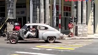 Escenas exclusivas de la filmación de la película Fast 8 en La Habana, Cuba