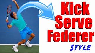 Tennis Kick Serve   Hit Your Kick Serve Like Roger Federer Even if Beginner