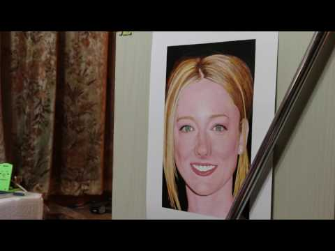 Painting of Judy Greer (work in process 27)