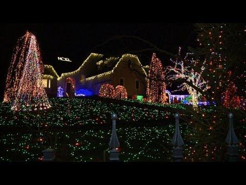 Amerikanische Weihnachtsbeleuchtung.Weihnachtslichter Wahn In Den Usa