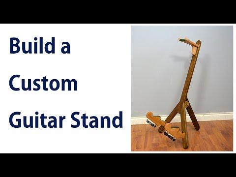 How to make a Custom Guitar Stand / DIY Guitar Holder