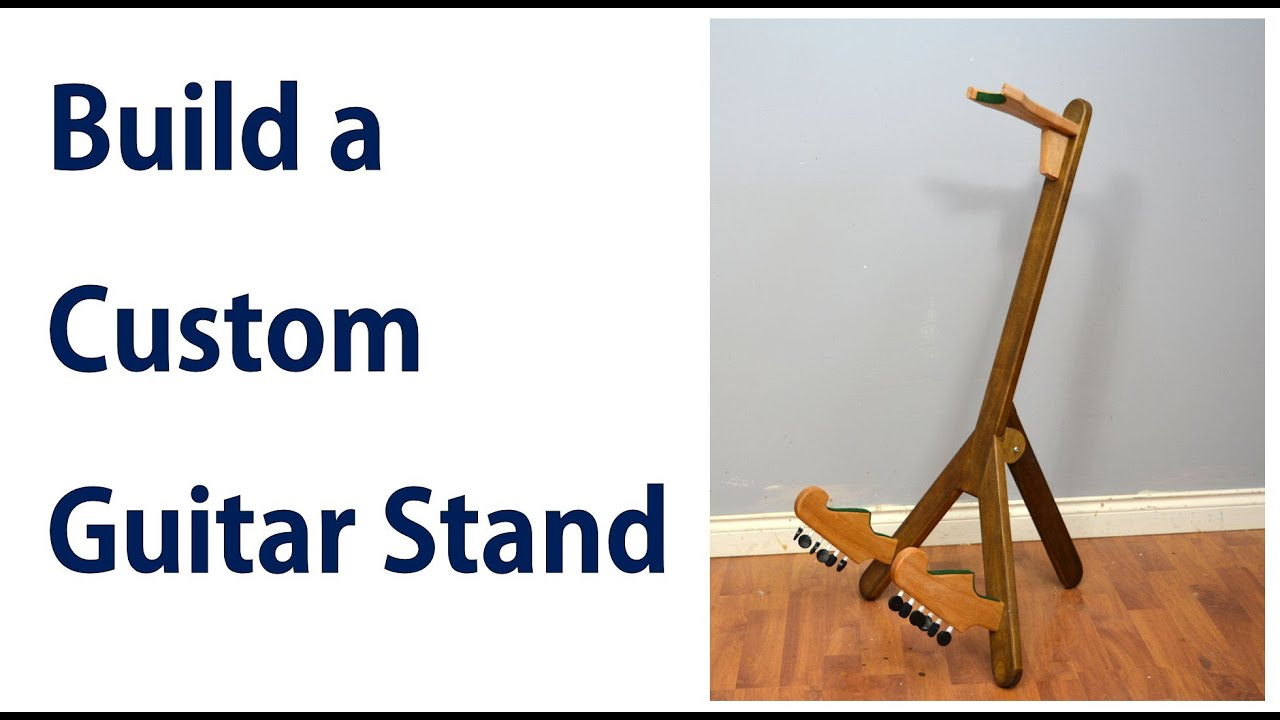 How To Make A Custom Guitar Stand Diy Guitar Holder