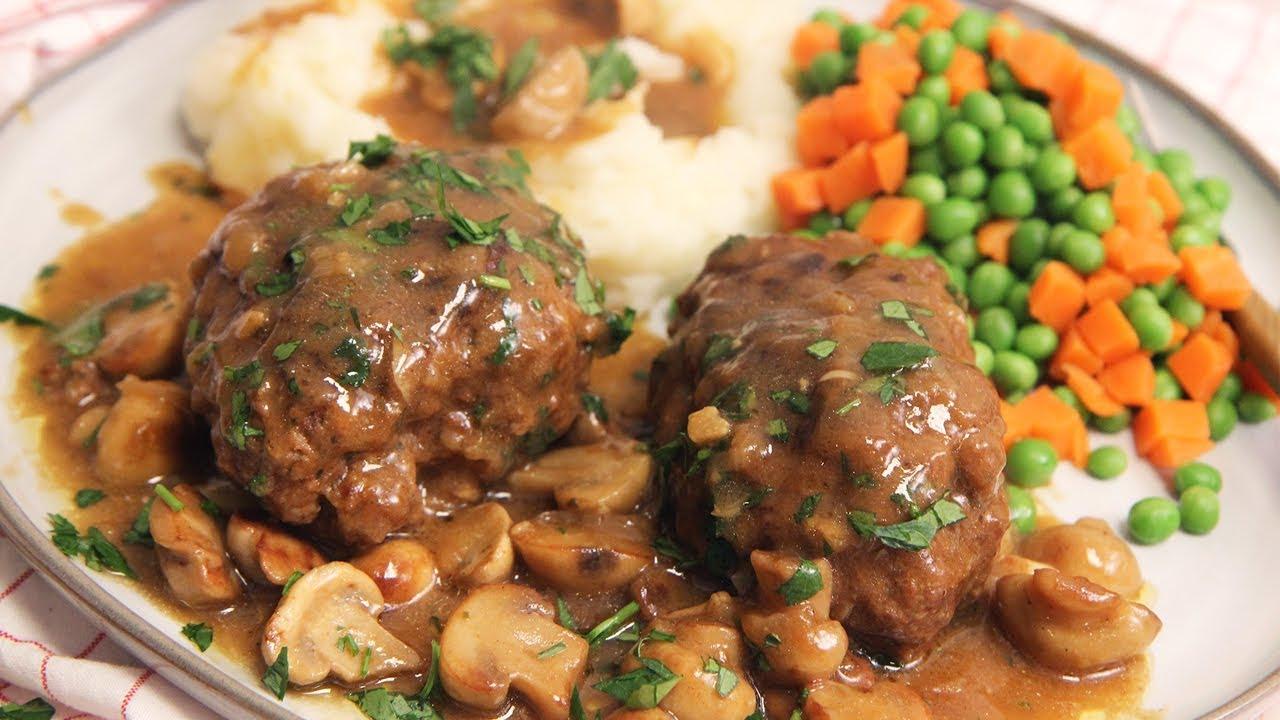 Salisbury Steak 2 Recipe Laura In The Kitchen Internet Cooking