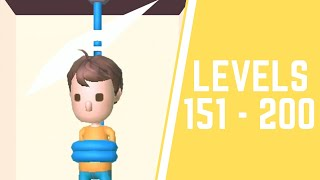 Rescue Cut - Rope Puzzle Game All Levels 151-200