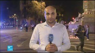 موفد فرانس 24 ينقل المسيرة الاحتجاجية الليلية في برشلونة