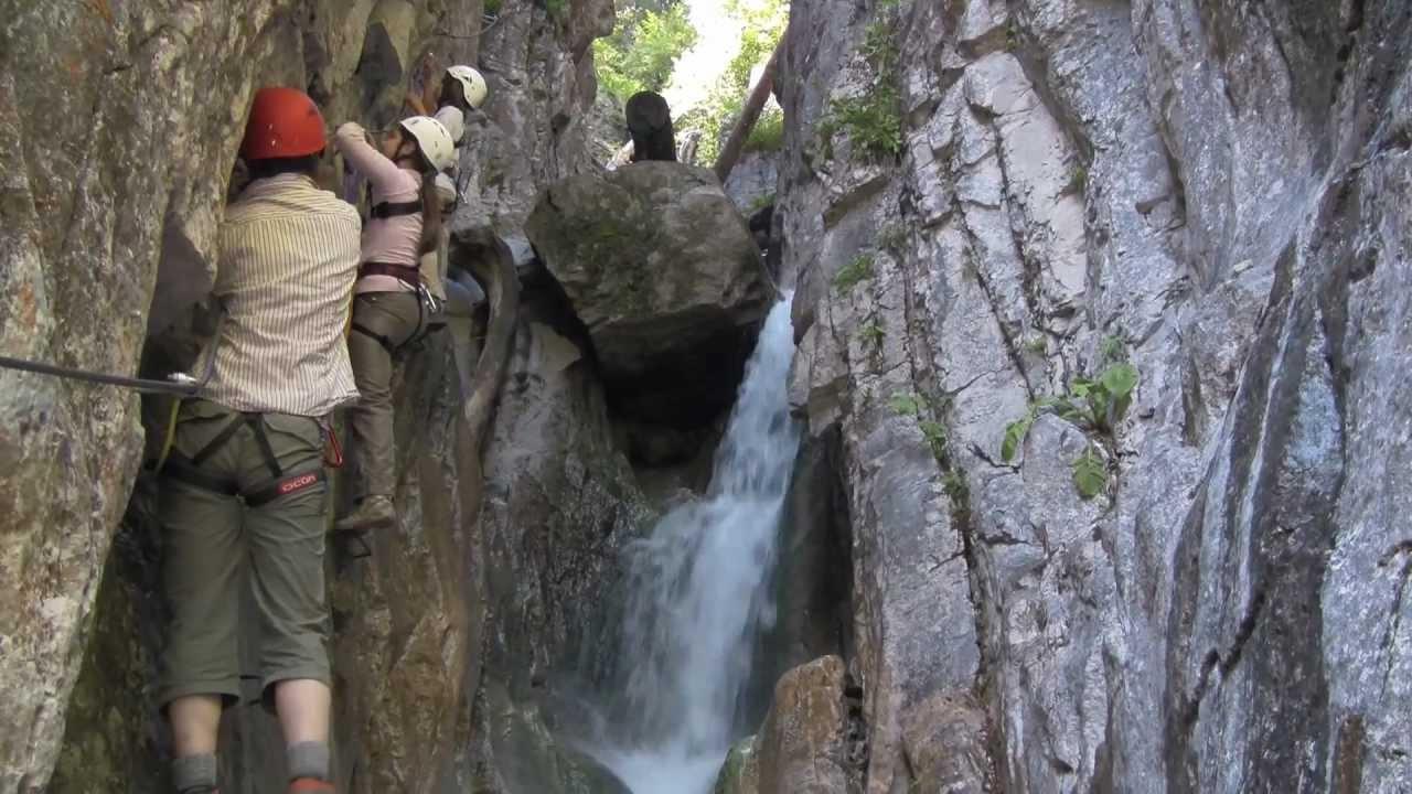 Klettersteig Montafon : Canyon klettersteige bei gargellen im montafon röbi schlucht und