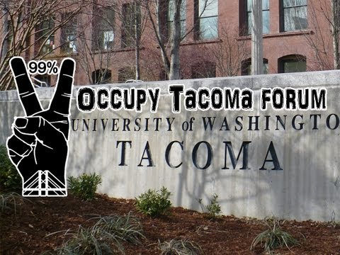 Occupy Tacoma forum at University of Washington Tacoma