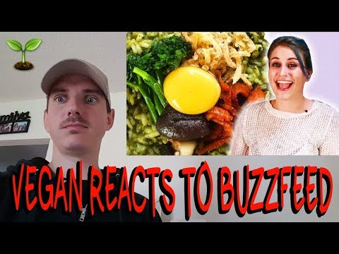 REACTION : PEOPLE TRY GOURMET VEGAN FOOD BY BUZZFEED - BUZZFEEDVIDEO VEGAN REACTS