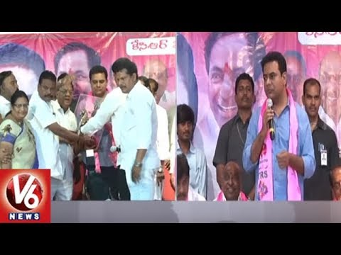 Minister KTR Speech | Lingayat Coordination Committee State President Ashok Joins TRS Party | V6